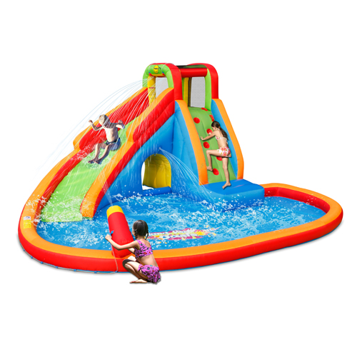 Inflatable Water Slide Pool Bouncy Castle: Inflatable Water Slide For Sale