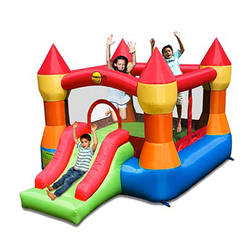Rainbow Jumping Castle with slide