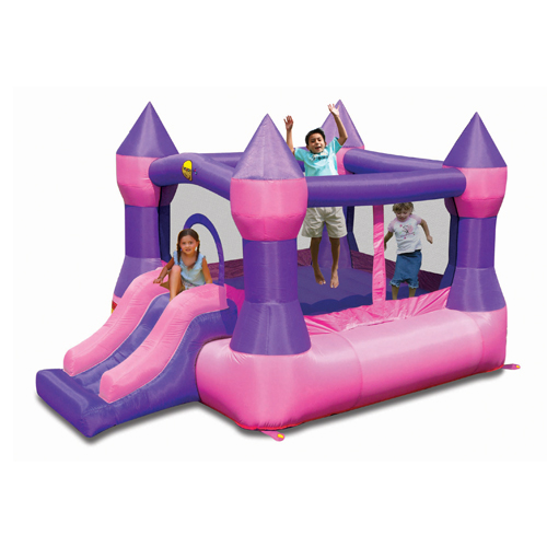 Pink Jumping Castle with slide