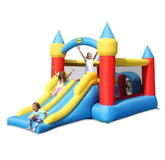Obstacle Course Castle with Double Slide